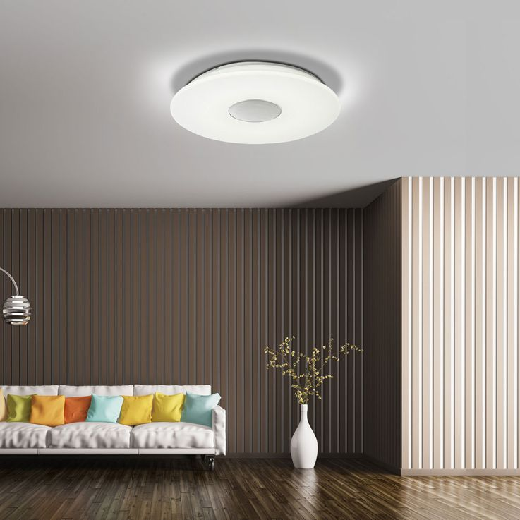 RGB LED Ceiling Lamp Hallway Bluetooth MP3 Speaker CCT Starlight DIMMABLE – Bild 4