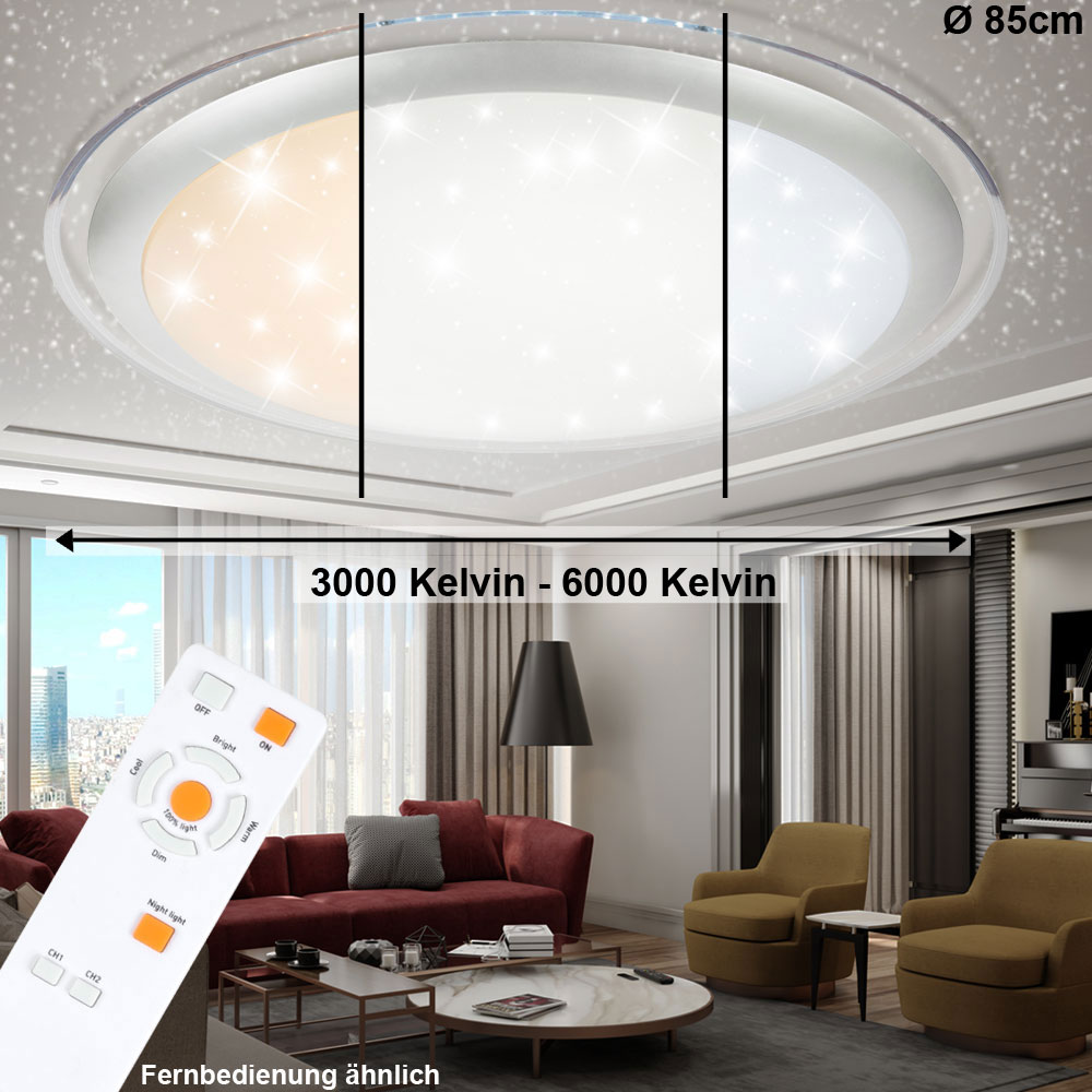 led decken lampen wohn zimmer sternen himmel fernbedienung tageslicht dimmbar ebay. Black Bedroom Furniture Sets. Home Design Ideas