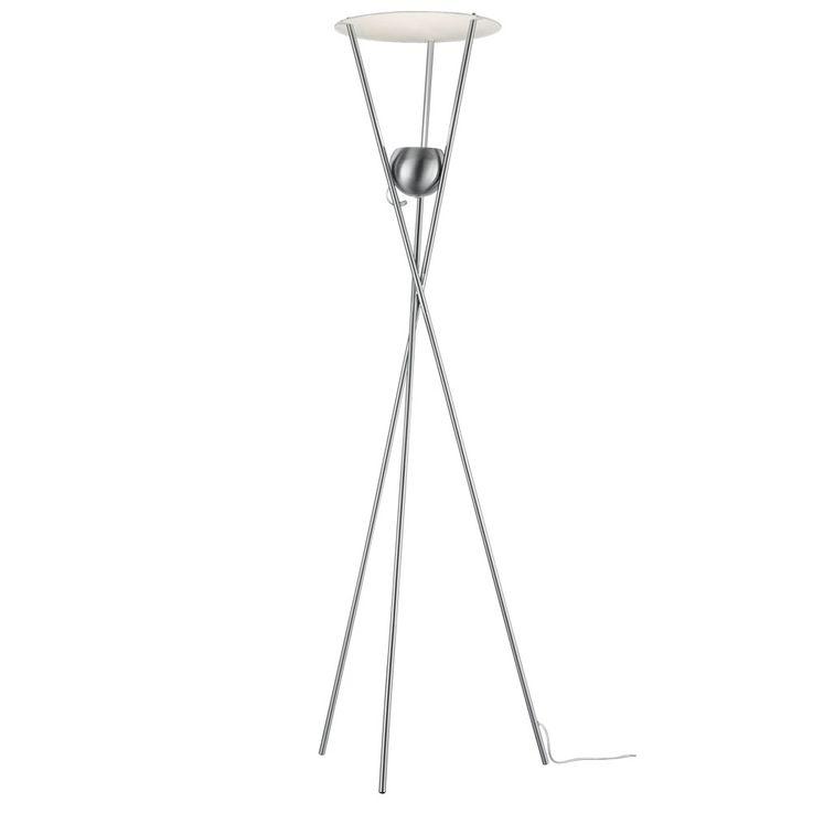 LED 20 W Steh Lampe Glas Wohnraum Lese Kugel Leuchte 4-Stufen Touch Dimmer Trio Leuchten 424290107 – Bild 1