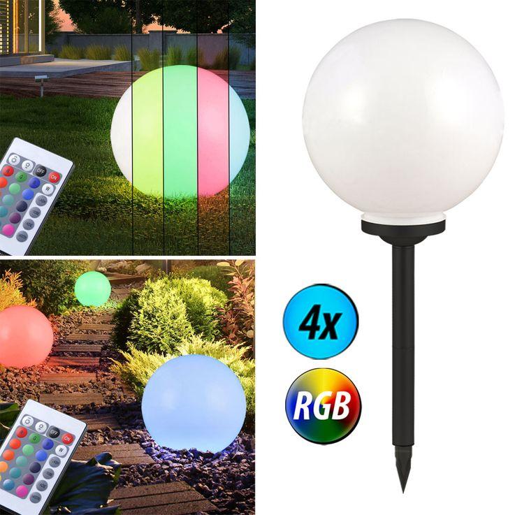 RGB LED Kugel Stecklampen mit Fernbedienung für Ihren Garten – Bild 5