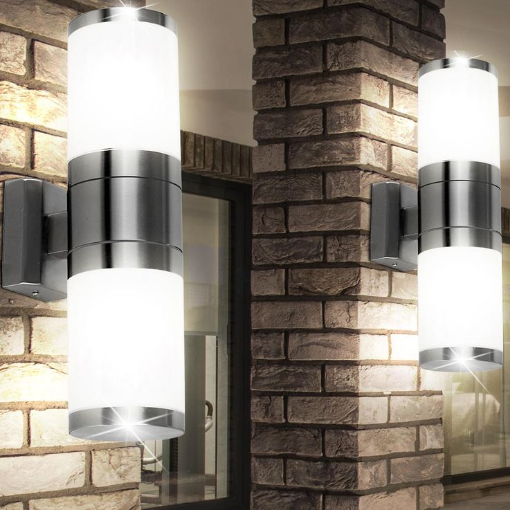 Set of 2 stainless steel outdoor wall lights XELOO – Bild 2