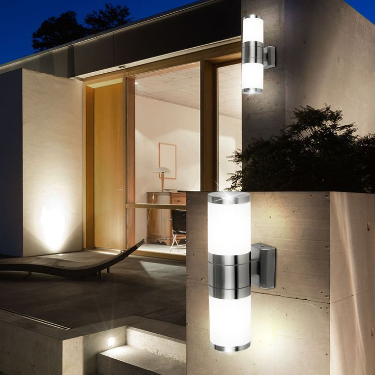Set of 2 stainless steel outdoor wall lights XELOO – Bild 3