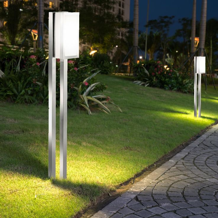 RGB LED stainless steel floor lamp for outdoor use – Bild 4