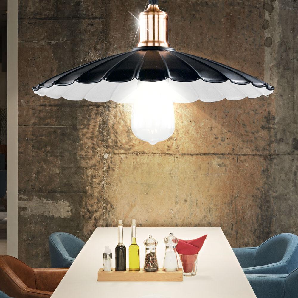 led landhaus stil decken h nge lampe dimmer ess zimmer pendel rgb fernbedienung ebay. Black Bedroom Furniture Sets. Home Design Ideas