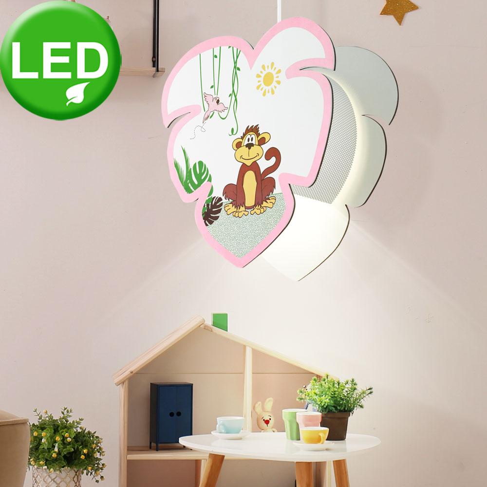 led h ngelampe mit affen motiv f r das kinderzimmer louie unsichtbar lampen m bel. Black Bedroom Furniture Sets. Home Design Ideas