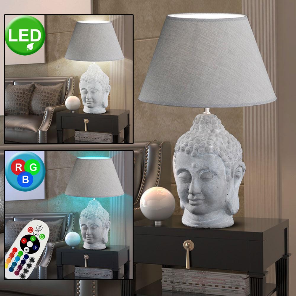 RGB LED Kugel Lampe Glas opal dimmbar Nacht Tisch Lese Leuchte Fernbedienung