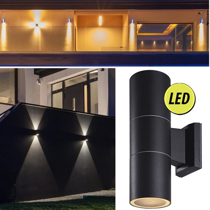 Set of 2 outdoor RGB LED wall lights in ALU – Bild 8
