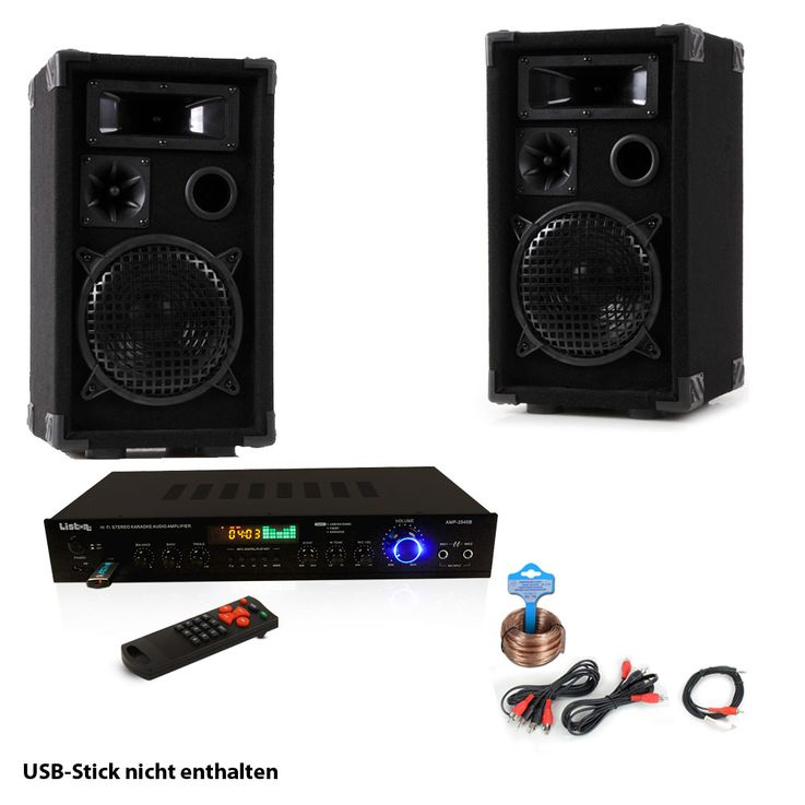 PA Party Music System USB SD MP3 Bluetooth Receiver Amplifier Radio Tuner Remote Control DJ-Smart – Bild 1