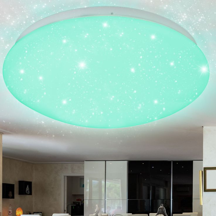 RGB LED Ceiling Lamp CCT Remote Color Changing Stars Sky Day Light  Globo 48363-48RGB – Bild 9