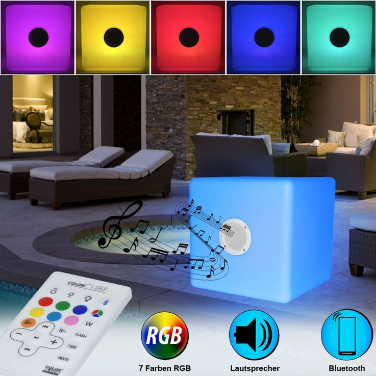 RGB LED Speaker Outdoor Lighting Color Changing Stand Light Bluetooth Big Ben BTCBLIGHTL – Bild 2