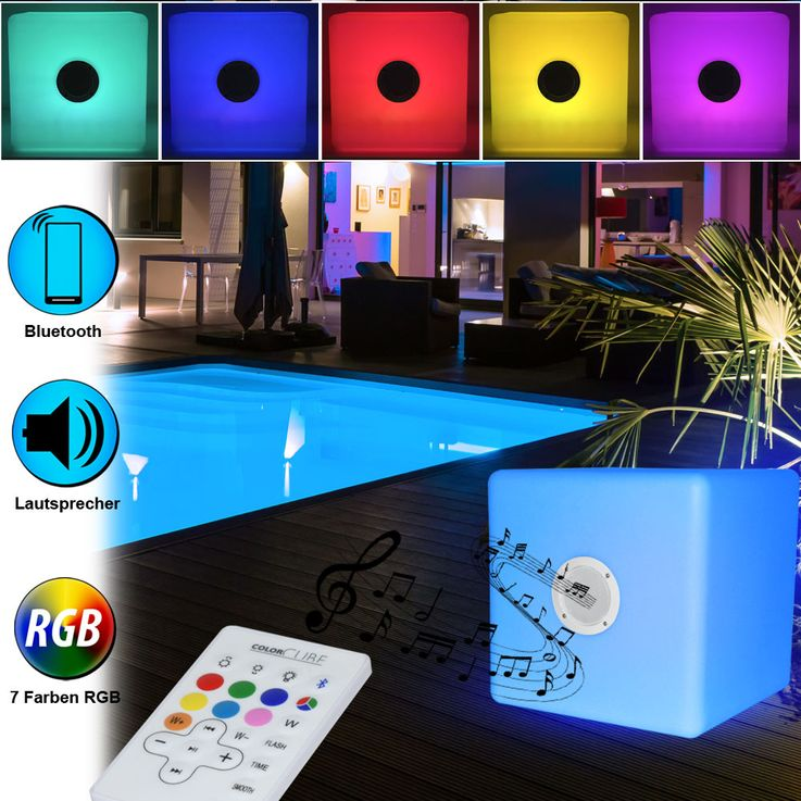 RGB LED Speaker Outdoor Lighting Color Changing Stand Light Bluetooth Big Ben BTCBLIGHTM – Bild 2