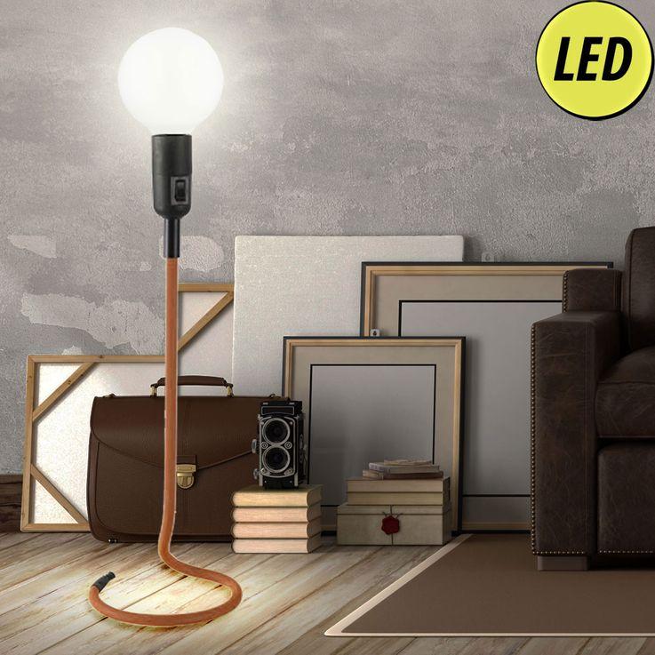 Lampes de table orange clair Lit-salon Salle de lecture lampe Beistell mis incl. Lampes LED – Bild 2
