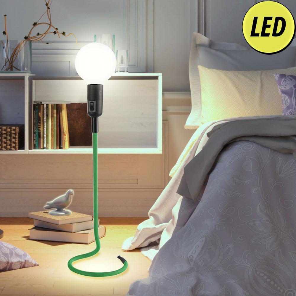 Lampe de table textile led en vert pour le salon cable - Table pour lampe de salon ...