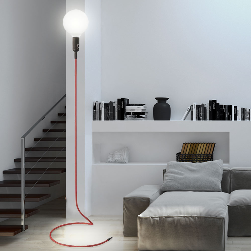 rgb led stehlampe im retro design f r das wohnzimmer cable unsichtbar lampen m bel. Black Bedroom Furniture Sets. Home Design Ideas