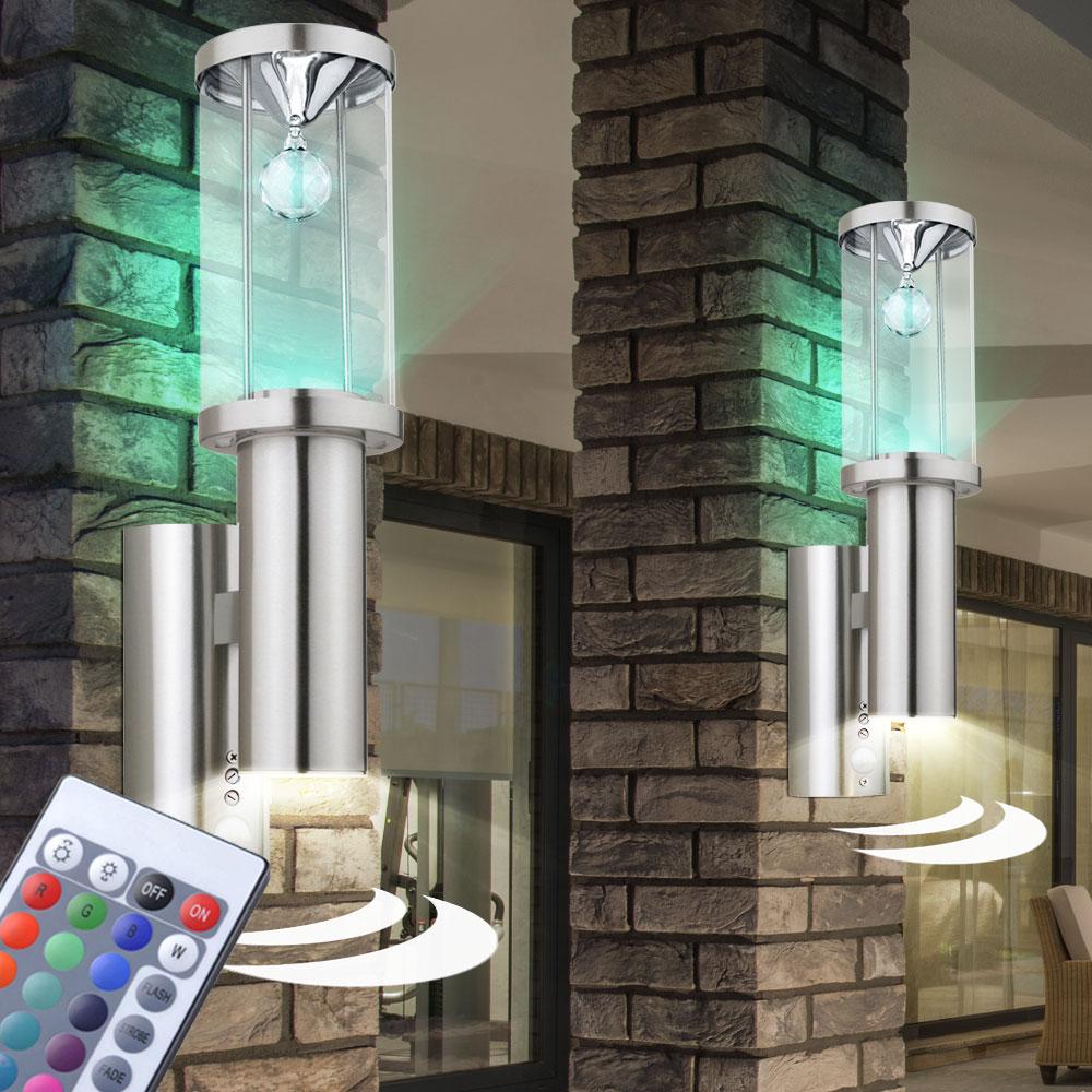 2x led wand up down leuchten dimmbar au en hof. Black Bedroom Furniture Sets. Home Design Ideas