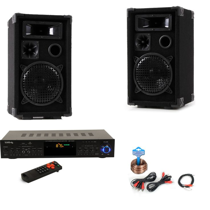 PA Party Musik Anlage Boxen USB SD MP3 Bluetooth Receiver Radio Tuner Fernbedienung DJ-Partyking – Bild 1