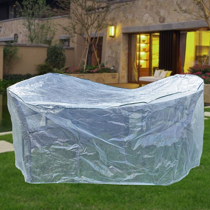 Cover hood garden furniture protection high-backed tarpaulin table tarpaulin transparent HARMS 504292 – Bild 2
