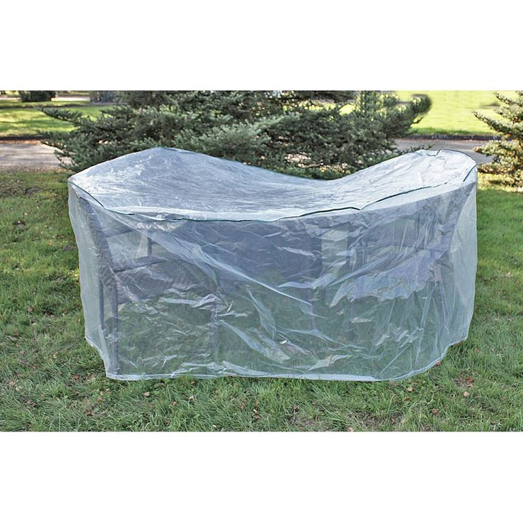 Cover hood garden furniture protection high-backed tarpaulin table tarpaulin transparent HARMS 504292 – Bild 3