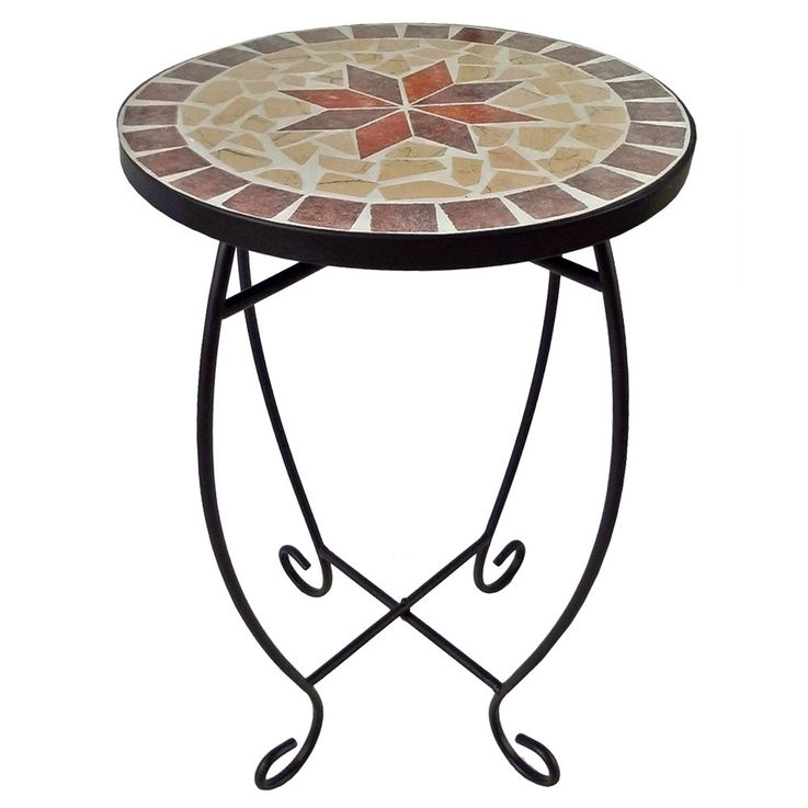 Flower Stool Living Room Side Table Mosaic Design Mediterranean Plants Stand HARMS 504662 – Bild 1