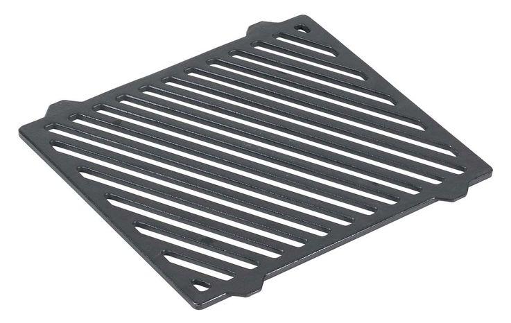 Guss-Grillrost-Einleger Grillzubehör schwarz 26,5 x 23 cm – Bild 1