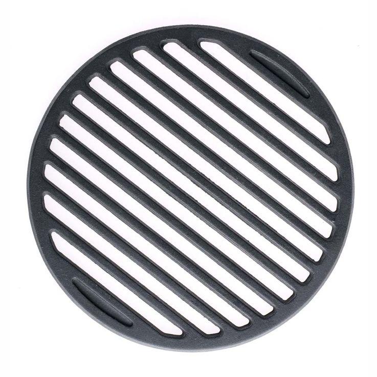 Guss-Grillrost-Einleger Grillzubehör schwarz 23,6 cm Ø – Bild 4