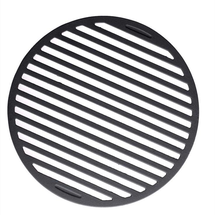 Guss-Grillrost-Einleger Grillzubehör 30,5 cm Ø schwarz – Bild 2