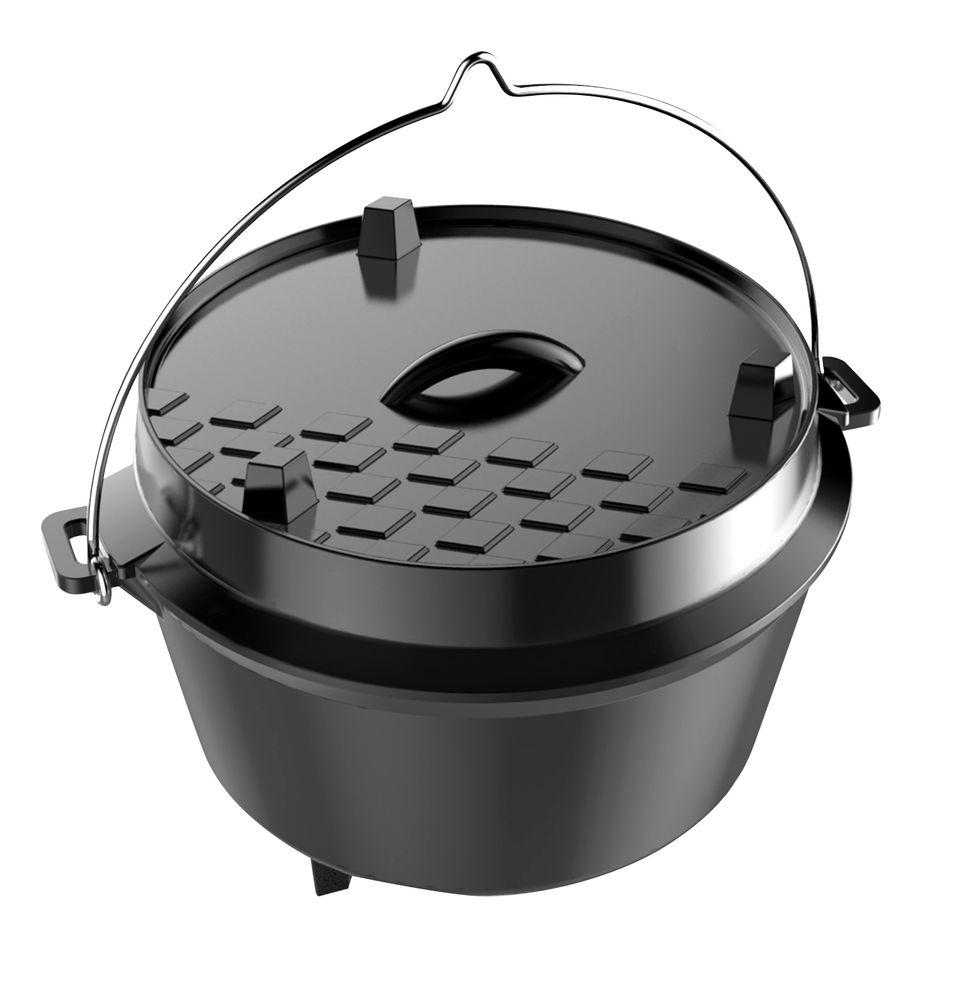 Dutch Oven L Gusseisenkessel Feuertopf Grill-Zubehör