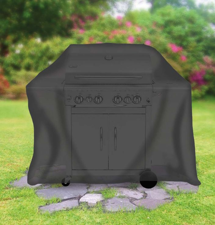 Universal Abdeckhaube für Gasgrill groß, schwarz – Bild 2