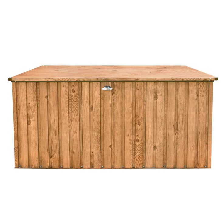 Metal  Tools Tool Box 190x90 Wood  -Decor Oak Garden Yard Path Tepro 7449 – Bild 2