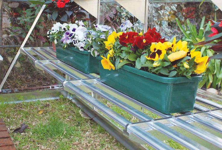 Arbeitsregal Set, maximale Belastung 40 kg,  3 Pflanzenhalter – Bild 4