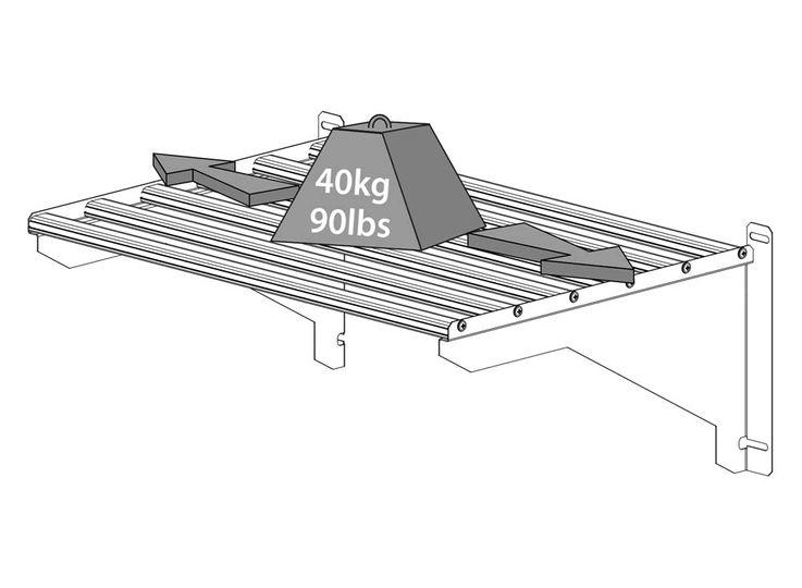Arbeitsregal Set, maximale Belastung 40 kg,  3 Pflanzenhalter – Bild 6