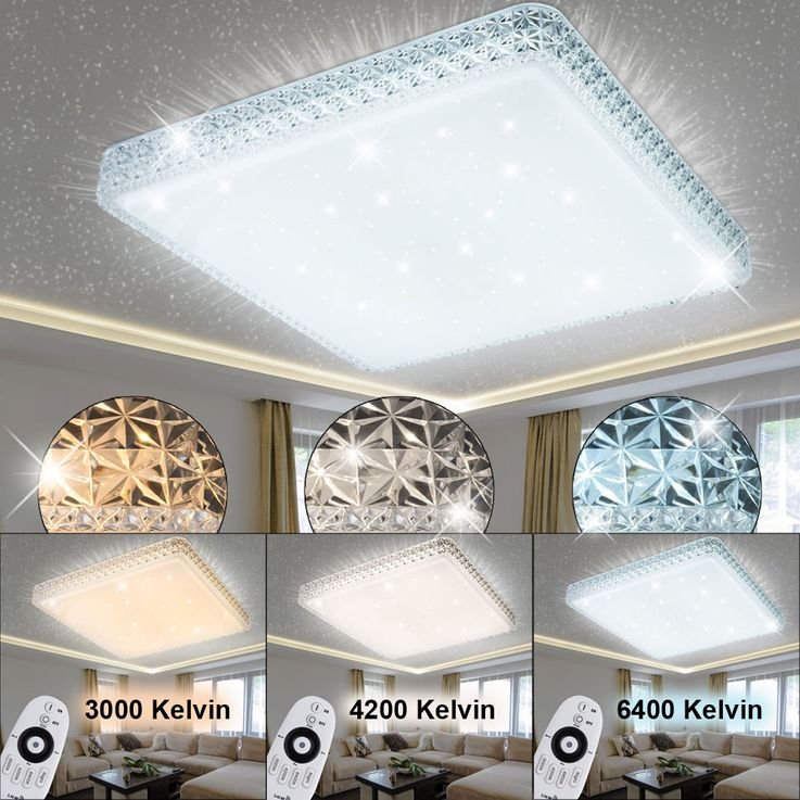LED 48 W ceiling lamp living room crystal stars effect light REMOTE CONTROL  Globo 41339-48 – Bild 2