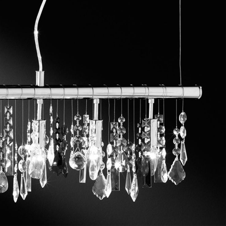 Hanging Lamp Living Room Crystal Hanging Ceiling Lamp Pendulum Luster Chrome LampsDirect 15015  -17 – Bild 5