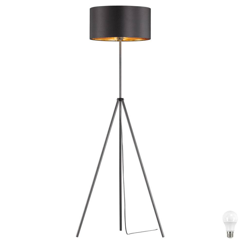 led deckenfluter in schwarz gold f r das wohnzimmer daniel unsichtbar lampen m bel. Black Bedroom Furniture Sets. Home Design Ideas