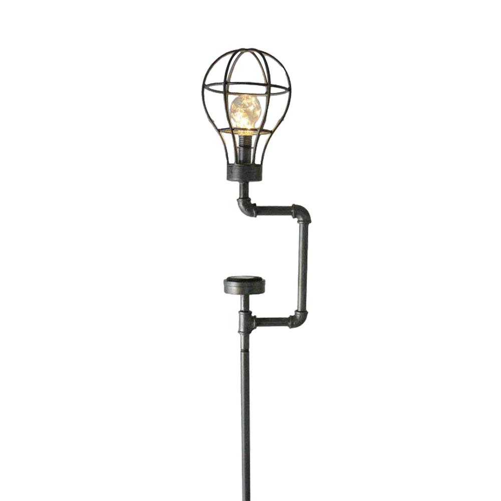 led wasser rohr steck leuchte garten beleuchtung grundst ck erdspie solar lampe ebay. Black Bedroom Furniture Sets. Home Design Ideas