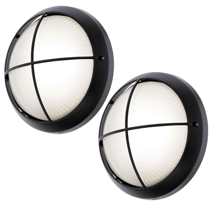 Set of 2 LED outdoor wall and ceiling lights in black SIONES – Bild 1