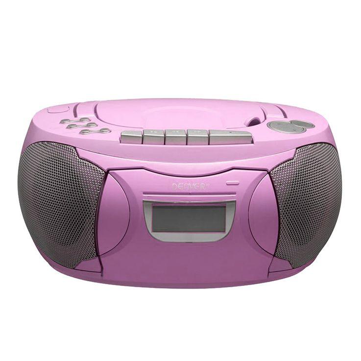 Stereo Radio CD Player Boxen Mädchen Spiel Zimmer Musik Anlage im Set inklusive Sternchen Sticker – Bild 1