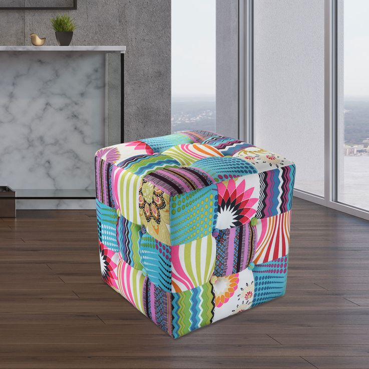 High quality patchwork seat cube textile furniture bench furniture fabric couch armchair  BHP B412353 – Bild 2