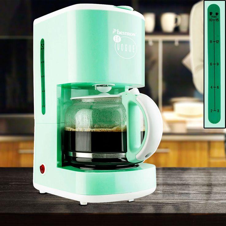 Filter coffee machine 15 cups glass jug brewing machine hot plate mint green  Bestron ACM300EVM – Bild 2
