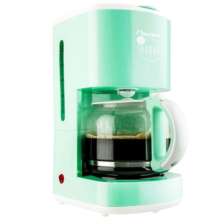 Kaffeemaschine in mintgrün mit Glaskanne und Warmhalteplattte – Bild 5