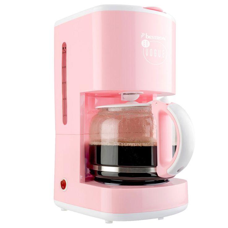 Filter Kaffee Maschine rosa Warmhalte Platte 15 Tassen Glas Kanne Brüh Automat Bestron ACM300EVP – Bild 6