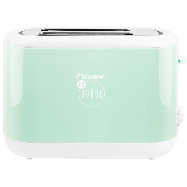 2 Scheiben Toaster in mintgrün mit Brötchenaufsatz – Bild 1