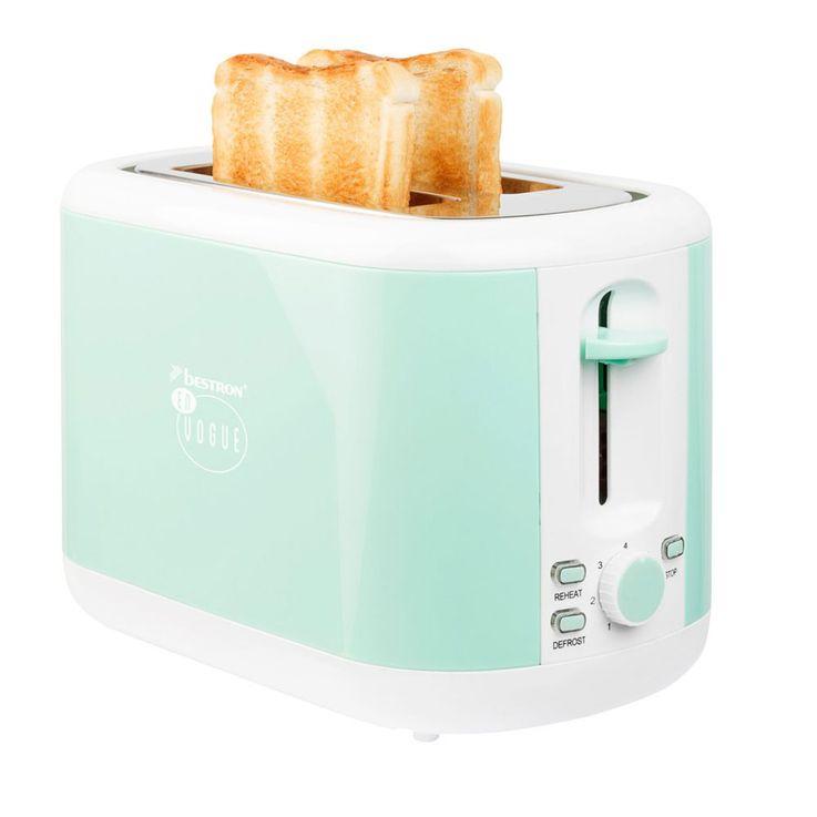 2 Scheiben Toaster in mintgrün mit Brötchenaufsatz – Bild 6