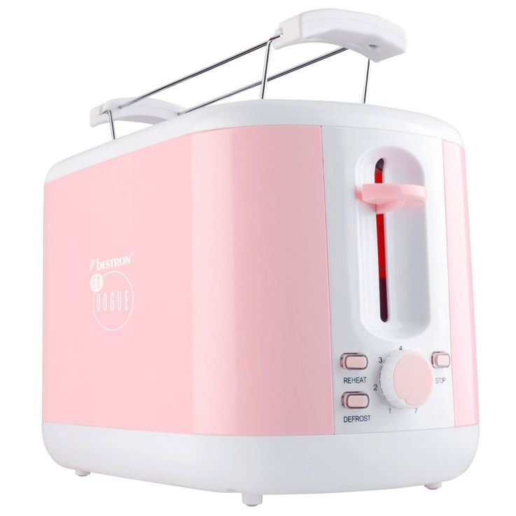 930W Toaster Pink Crumb Tray 2  Slices of Thawing Thawing Warm Up Bestron ATS300EVP – Bild 7
