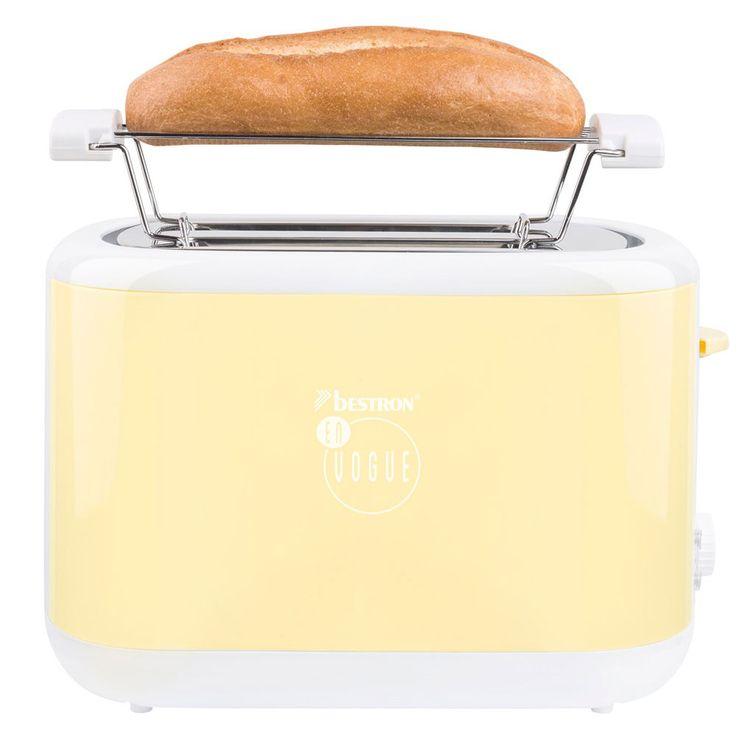 2-Scheiben Toaster in Vanille mit Brötchenaufsatz – Bild 4