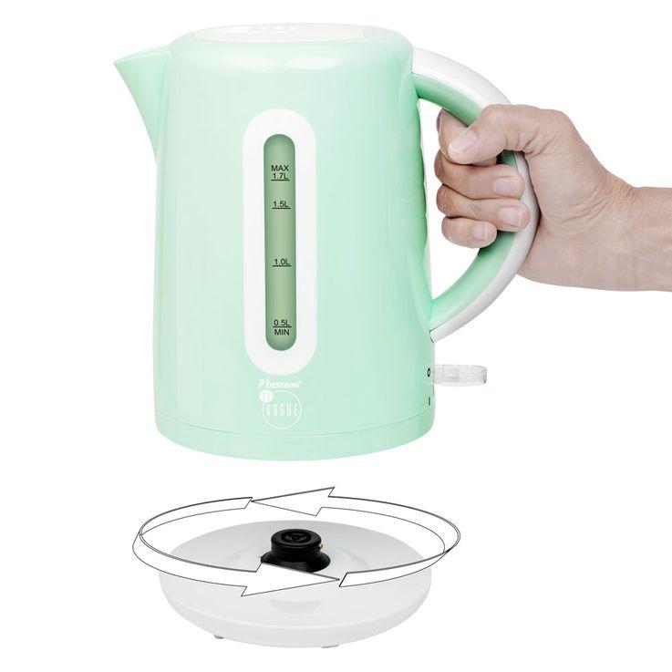 Design Wasserkocher in mintgrün mit 1,7 Liter Füllmenge – Bild 5