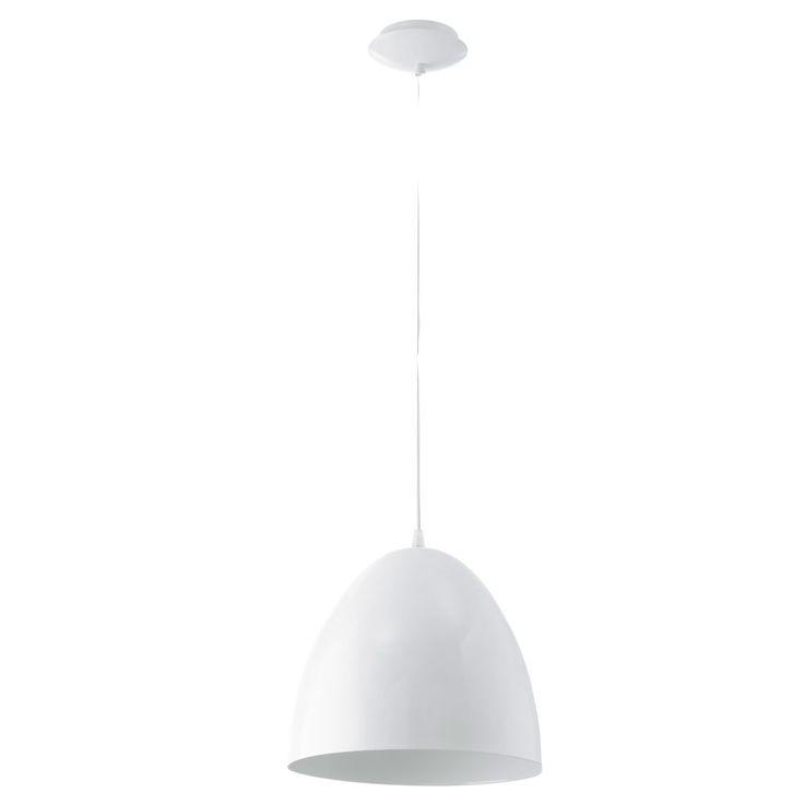 Design hanging lamp dining room kitchen lighting ceiling pendulum lamp white  Eglo 92717 – Bild 1