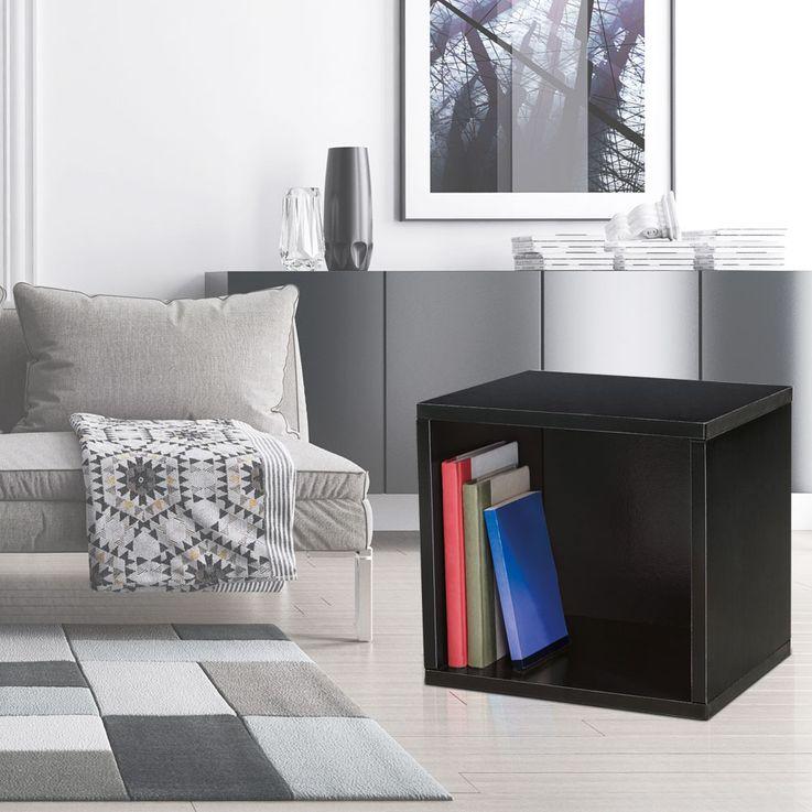 Design Karton Würfel Wand Montage Regal Hänge Ablage schwarz Belastbarkeit 15 kg BHP B991526-4 – Bild 2