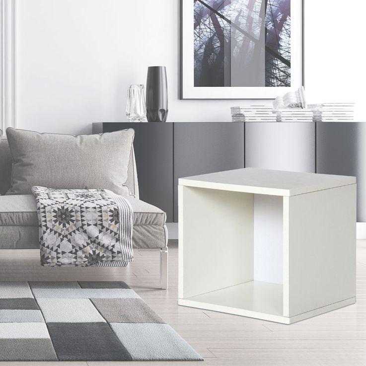Design Karton Würfel Wand Montage Regal Hänge Ablage weiss Belastbarkeit 15 kg BHP B991526-3 – Bild 2