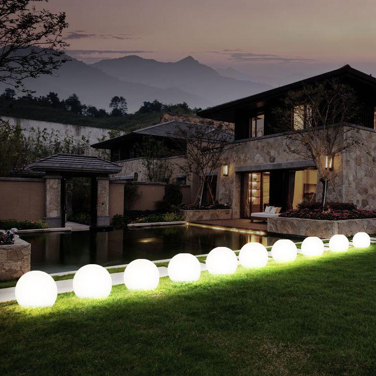 3x LED Solaire Extérieure Plug Lampe Jardin Spike Ball Pelouse Lumières Blanc  Globo 33770-3 – Bild 15